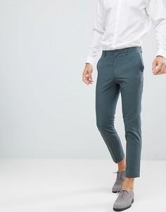 Облегающие брюки цвета хаки Burton Menswear - Зеленый