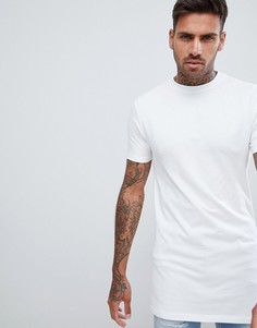 Белая обтягивающая футболка с круглым вырезом River Island - Белый
