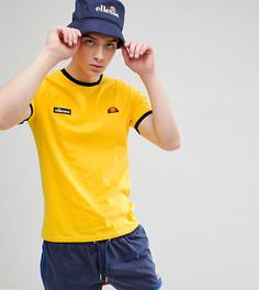 Желтая футболка с контрастной отделкой и логотипом ellesse - Желтый