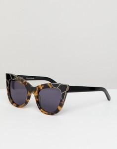 Черепаховые солнцезащитные очки кошачий глаз Pared - Коричневый