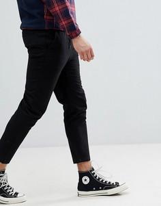Узкие укороченные брюки Jack & Jones - Черный