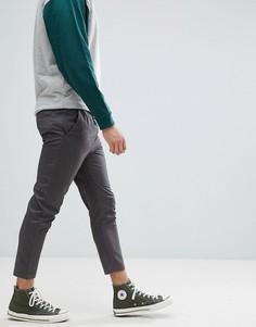 Узкие укороченные брюки Jack & Jones - Серый