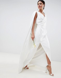 Свадебное платье макси с кейпом ASOS EDITION - Белый