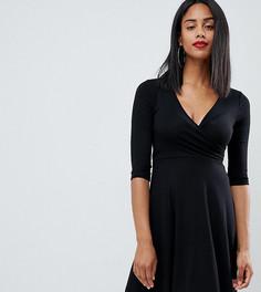 Платье мини с запахом ASOS DESIGN maternity nursing - Черный