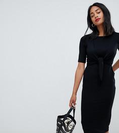Платье для кормления с узлом и рукавами до локтя ASOS DESIGN Maternity - Черный