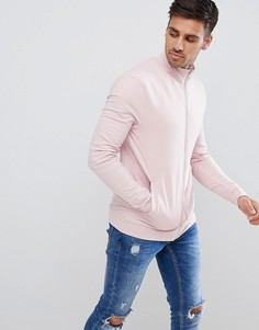 Розовая облегающая трикотажная спортивная куртка ASOS DESIGN - Розовый