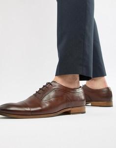 Коричневые кожаные туфли со шнуровкой ASOS DESIGN - Коричневый