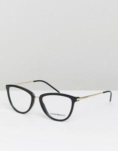 Очки с прозрачными стеклами Emporio Armani - Черный