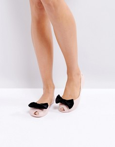 Melissa Bow Flat Shoes - Бежевый