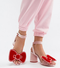 Сандалии на каблуке с бархатным бантом Hello Kitty x ASOS DESIGN - Мульти
