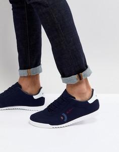 Темно-синие замшевые кроссовки Ben Sherman Retro Target - Синий