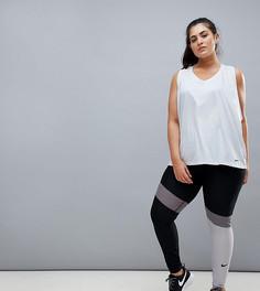 Серые леггинсы в стиле колор блок Nike Plus Training Power - Серый