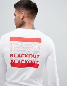 Обтягивающий лонгслив с принтом Black Out ASOS DESIGN - Белый
