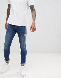 Супероблегающие джинсы Dr Denim Leroy - Синий