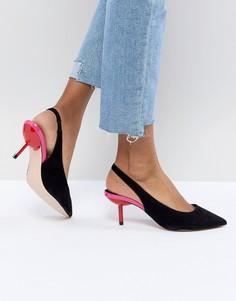Туфли на каблуке-рюмочке Faith - Черный