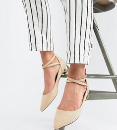 Туфли на плоской подошве с металлическим каблуком Aldo - Бежевый