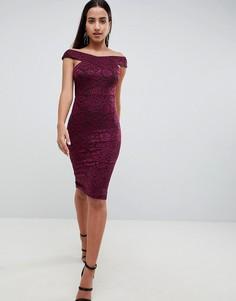 Кружевное платье-футляр AX Paris - Фиолетовый