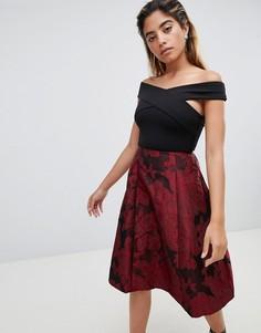 Приталенное платье миди 2-в-1 AX Paris - Мульти