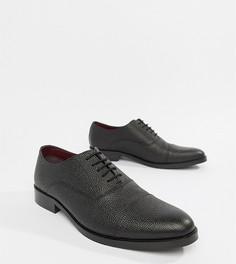 Черные кожаные ботинки на шнуровке ASOS DESIGN - Черный