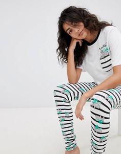 Пижамный комплект с футболкой и леггинсами ASOS DESIGN Koality - Мульти
