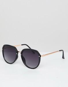 Солнцезащитные очки в квадратной массивной оправе Jeepers Peepers - Черный