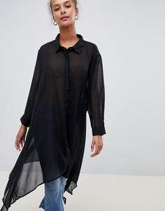 Рубашка с асимметричным краем QED London - Синий