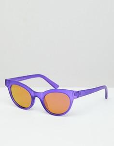 Фиолетовые матовые солнцезащитные очки в круглой оправе AJ Morgan - Фиолетовый