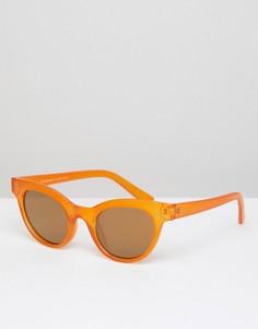 Оранжевые круглые солнцезащитные очки AJ Morgan - Оранжевый