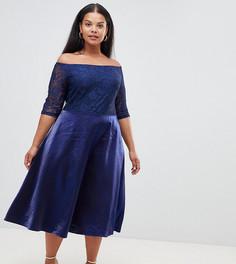 Платье миди Alice & You Plus - Темно-синий