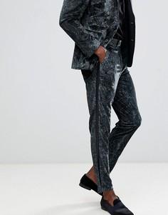 Зеленые брюки скинни с принтом пейсли ASOS DESIGN - Зеленый