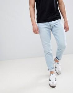 Голубые зауженные джинсы River Island - Синий