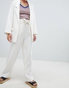 Широкие брюки Monki - Кремовый