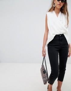 Укороченные джинсы Glamorous - Черный