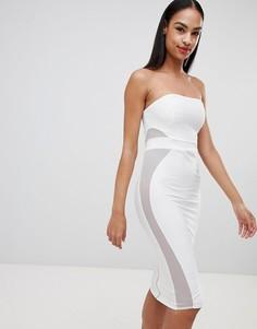 Бандажное платье-бандо Missguided - Белый