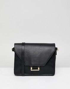 Черная сумка через плечо с отделкой Pull&Bear - Черный