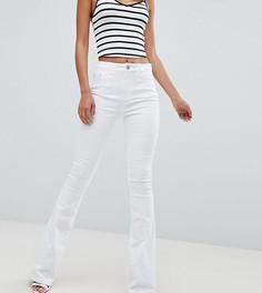 Белые расклешенные брюки ASOS DESIGN Tall - Белый