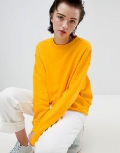 Желтый укороченный свитшот Weekday - Желтый