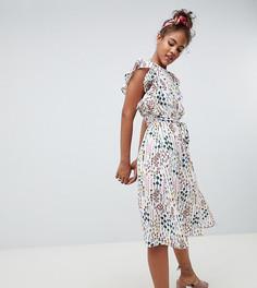 Чайное платье с цветочным принтом Glamorous Tall - Белый