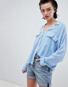 Рубашка в полоску с карманом Weekday - Мульти