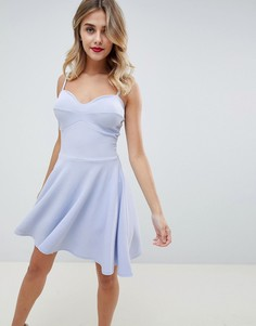 Короткое приталенное платье Boohoo - Синий