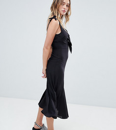 Платье миди с вырезом Monki - Черный