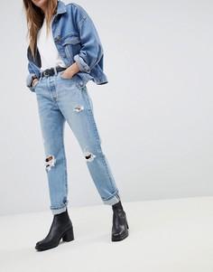 Укороченные джинсы с рваной отделкой Levis 501 - Синий Levis®