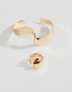 Набор из золотистых кольца и браслета ASOS DESIGN - Золотой