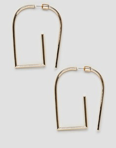 Золотистые серьги ASOS DESIGN - Золотой