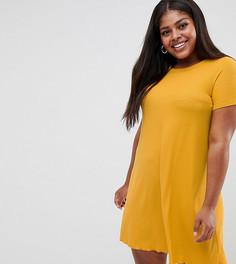Трикотажное платье-футболка New Look Curve - Черный