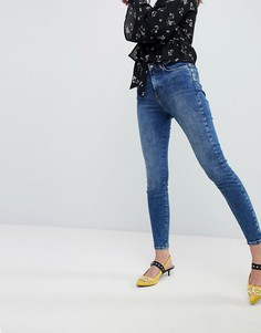 Синие моделирующие джинсы New Look - Синий