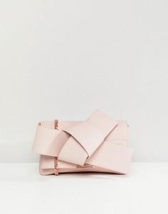 Клатч с большим узлом Ted Baker - Розовый