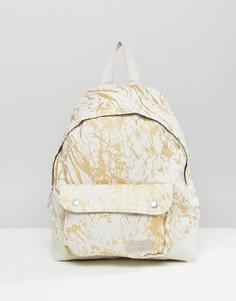 Белый рюкзак с мраморным принтом Eastpak - Белый