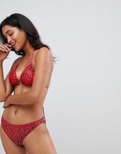 Плавки бикини с леопардовым принтом Gestuz - Красный