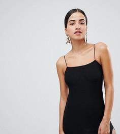 Облегающее платье мини с разрезом до бедра Boohoo - Черный